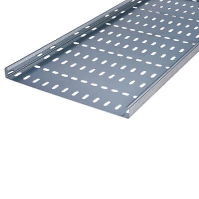 Medium Duty Cable Tray - 300 x 3000mm - Galvanised)