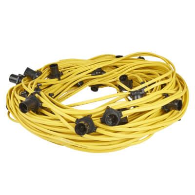 Spacing Outdoor Festoon Lights - 5m - Yellow)
