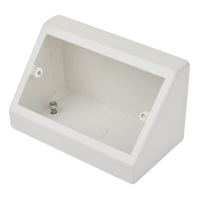 Bench 2 Gang Outlet Box -  32mm - White