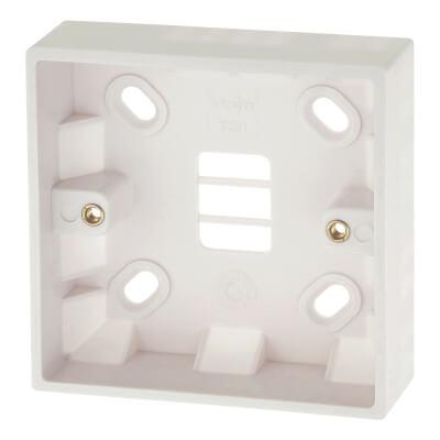 Deta 1 Gang Surface Pattress Box - 25mm - White)