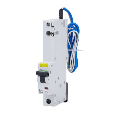 Danson 10A 30mA Single Pole RCBO - Type B)