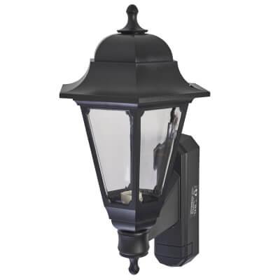 ASD Lighting 60W Outdoor Lantern Uplight - Black)