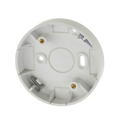 Marshall Tufflex Mini Trunking Ceiling Rose Adaptor - White)