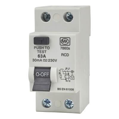 MK 60A 30mA 2 Module RCD)