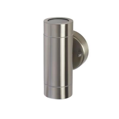 Zinc 35W GU1 Up/Down Light - Stainless Steel)