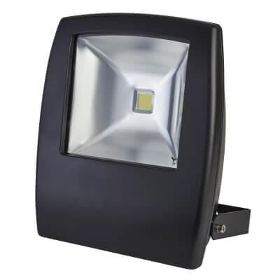 30W 6000K LED Slim Floodlight - Black )