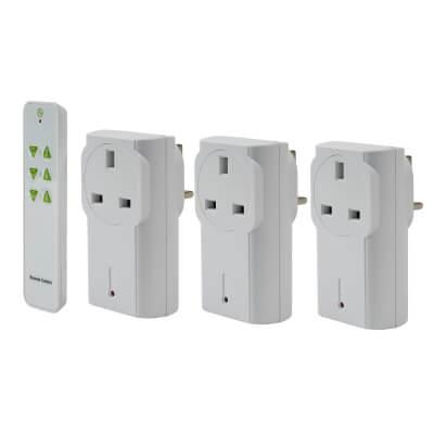 LightwaveRF 3 Pack Remote Socket Kit - White