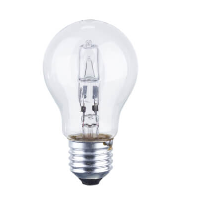 70W ES GLS Halogen Lamp - Dimmable - Clear)