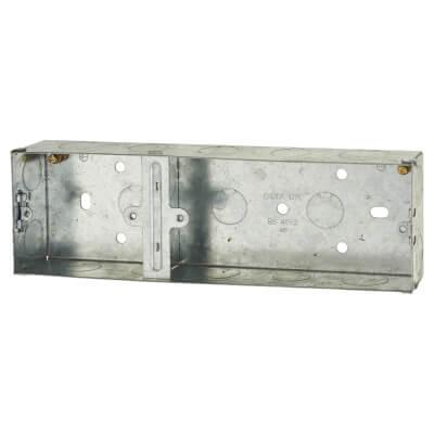 2 + 1 Gang Flush Metal Back Box)