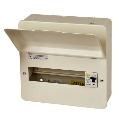 Danson 80A 30mA Amendment 3 Metal Consumer Unit - 10 Way RCD