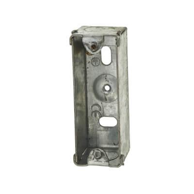 MK 1 Gang Architrave Flush Box - 30mm - Galvinised Metal)