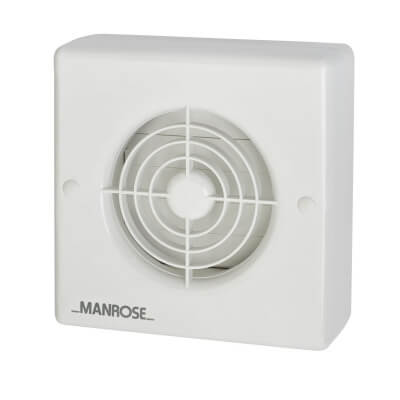 Manrose XF100AT 4 Inch Automatic Shutter Extractor Fan with Timer)