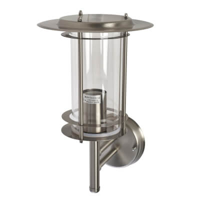 Zinc 60W Up Lantern - Stainless Steel)