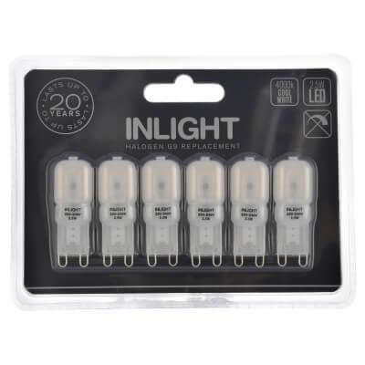 Forum InLight G9 Capsule LED - Cool White - 6 Pack )