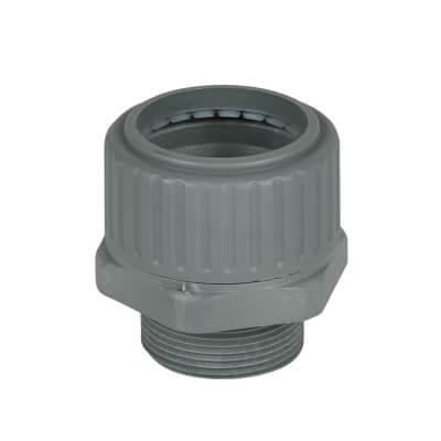 Univolt PVC Flexible Conduit Gland - 32mm - Grey
