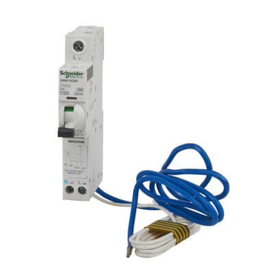 Schneider Acti 9 Isobar 20A 30mA Single Pole 3 Phase RCBO - Type C)