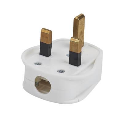 13A 3 Pin Plug Top - White)