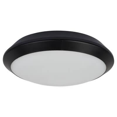 Integral LED 15W Tough Shell Plus Bulkhead Light with Microwave Sensor - IP66 - Black)