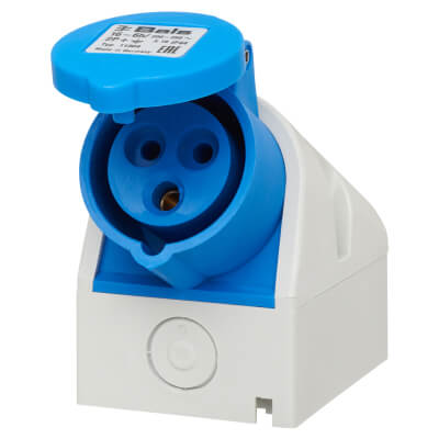 16A 2 Pin and Earth Surface Socket - Blue