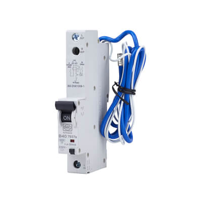 MK Sentry 40A 30mA Single Pole RCBO - Type B)