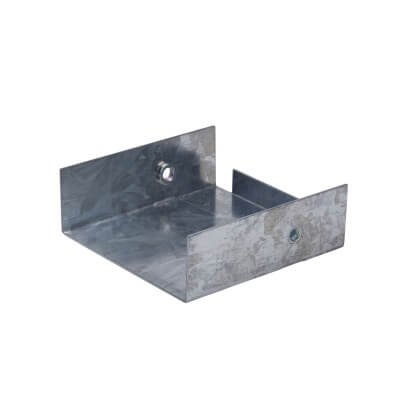 Stop End - 75 x 75mm - Galvanised)