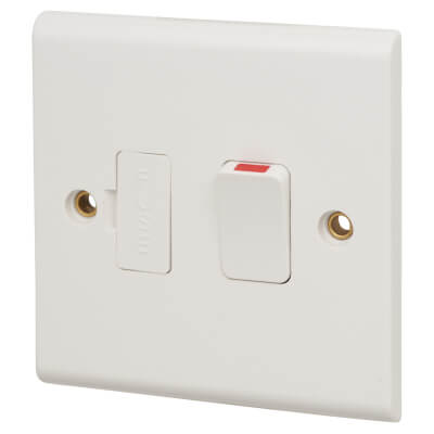 Deta 13A 1 Gang Switched Spur - White)