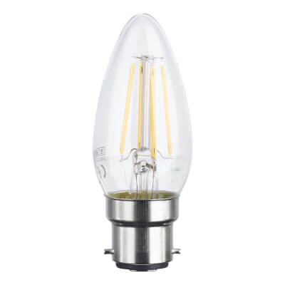 4W BC LED Filament Candle Lamp)