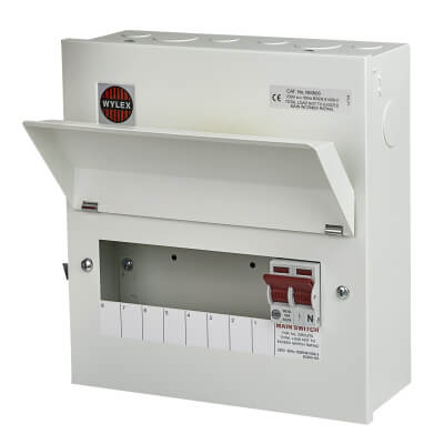 Wylex 100A Amendment 3 Metal Consumer Unit - 8 Way