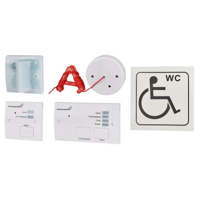 Disabled Toilet Alarm - White)