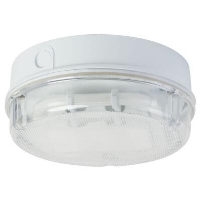 16W 2D Round Screw Drum Bulkhead Light - White/Clear)