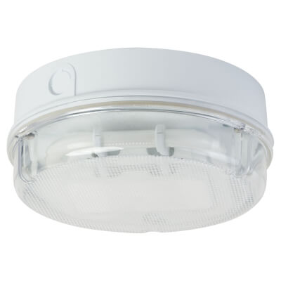 16W 2D Round Screw Drum Bulkhead Light - White and Clear
