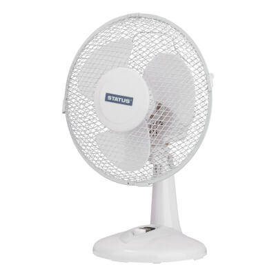 9 Inch Desk Fan - White)