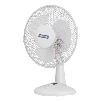 9 Inch Desk Fan - White)