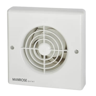 Manrose QF100S 4 Inch Quiet Axial Extractor Fan)