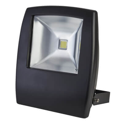 50W 6000K LED Slim Floodlight - Black)