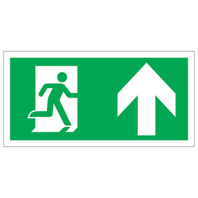 Running Man with Arrow - Up - 150 x 300mm - Rigid Plastic)