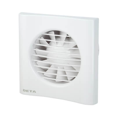 Deta 4603 4 Inch Axial Humidistat Extractor Fan with Timer)
