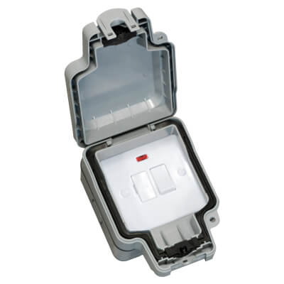 Hamilton Elemento 13A IP66 Weatherproof Switched Spur - Grey)
