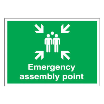 Fire Assembly Point - Emergency Assembly Point - 250 x 350mm