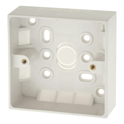 BG 1 Gang Surface Pattress Box - 32mm - White)