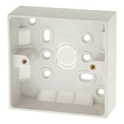 BG 1 Gang Surface Pattress Box - 32mm - White)