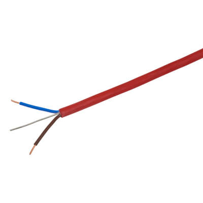 Prysmian FP200 Plus 2 Core & Earth Cable - 1.5m x 100m - Red)