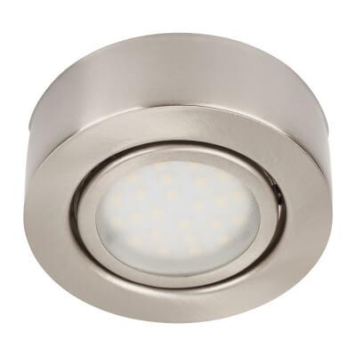 Circular LED Undercupboard Light Kit - Satin Nickel)