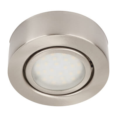 Circular LED Under Cabinet Light Kit - Satin Nickel)