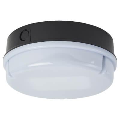 16W 2D Round Screw Drum Bulkhead Light - IP65 - Black Opal )