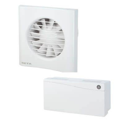 Deta 4616 4 Inch Low Voltage Axial Extractor Fan with Timer)