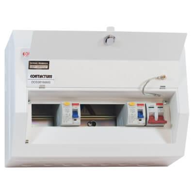 Contactum Defender 8 Way 100A Dual Split High Integrity Metal Consumer Unit - Amendment 3)