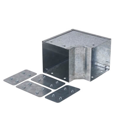 External Gusset Bend - 90° - 100 x 100mm - Galvanised )