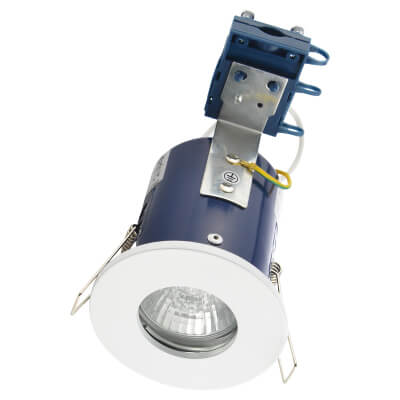 Forum Yate IP65 Fire Rated Bathroom Light - White)