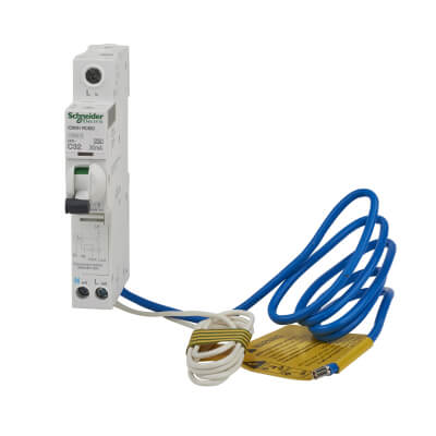 Schneider 32A Single Pole RCBO - Type C)